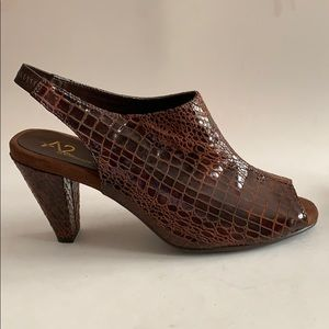 A2 Aerosoles brown leather shoes size 10